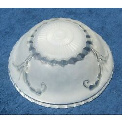 Kyпить Art Deco 3 Hole Hanging Light Shade White Frosted Unique Embossed Glass Shade~80 на еВаy.соm