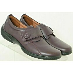 Hotter NEW Sugar Purple Leather Casual Comfort Driving Heel shoes Women's US 7