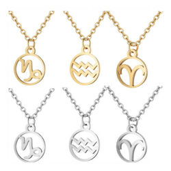Stainless Steel Pendant Necklace Lobster Zodiac Sign Gold Silver 16.3'' 2mm Z578