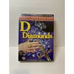 D is for Diamonds Murder Mystery Jigsaw Puzzle Alphabet Series #7106 SEALED