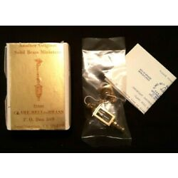 CLARE BELL BRASS Miniature Electric Hanging Coach Lamp #1792EL