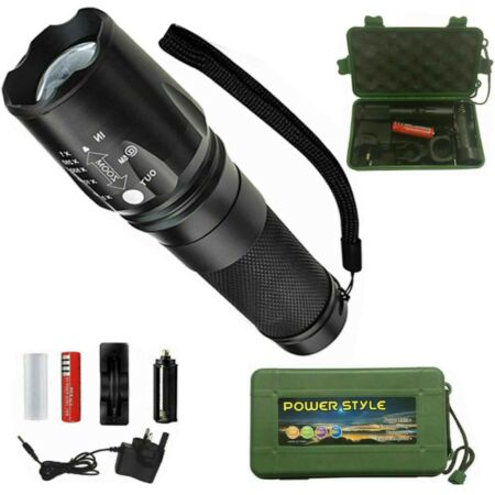 img-FLASHLIGHT LED TACTICAL TORCH RECHARGEABLE BRIGHT T6 SUPER ZOOMABLE 8000LM LIGHT