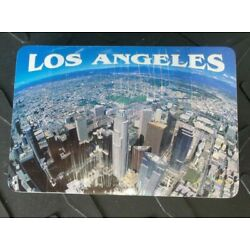 VTG LOS ANGELES CALIFORNIA PHOTO SKY VIEW SEALED PLAYING CARDS W/ PLASTIC CASE