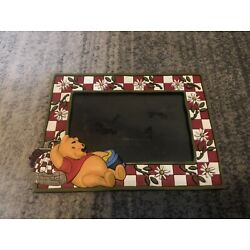 """applause winnie the pooh frame Red White Checkered Picnic Flowers Honey 4"""" X 6"""""""