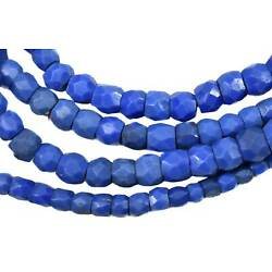 Russian Blues Opaque Trade Beads African 26 Inch