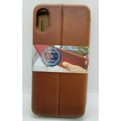 Burkley Case Marshall Leather Case For Apple iPhone X/XS Burnished Tan