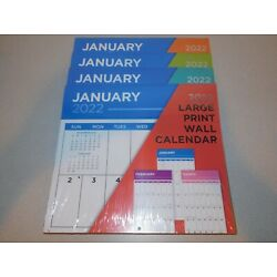 2022 Large Print Wall Calendar - NEW Sealed - Easy to See and Write On