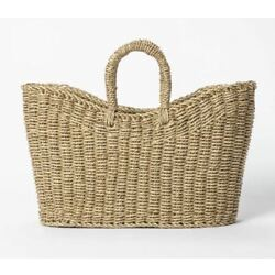 Target Decorative Basket Seagrass with Purse Style Handles