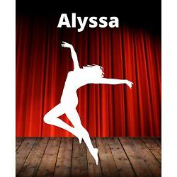 Dance Decal Custom Name Wall Personalized Removable Vinyl Sticker