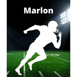 Football Decal Custom Name Wall Personalized Removable Vinyl Sticker