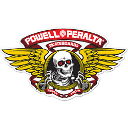 POWELL PERALTA WINGED RIPPER DIE-CUT 5'' RED DECAL