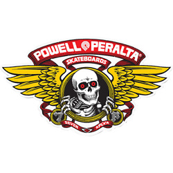 POWELL PERALTA WINGED RIPPER OG OVAL DECAL STICKER (2 pack)