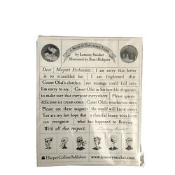 Magnet Promotional Item - A Series of Unfortunate Events, Lemony Snicket