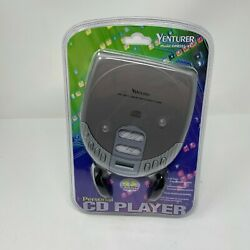 Venturer Electronics 2003 Personal CD Player with Stereo Headphones Sliver