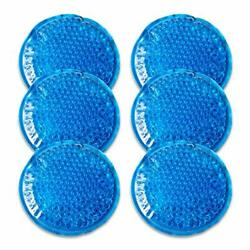 Reusable Gel Beads Ice Pack 6 Packs-Small Ice Packs Hot & Cold Compress Cold ...