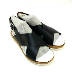 Nine West Angie Faux Leather Slingback Sandals Women's Size US 8W New In Box