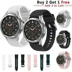 For Samsung Galaxy Watch 4 40mm 44mm Classic 42mm 46mm Wrist Band Strap Silicone