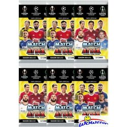 (6) 2021/22 Topps Match Attax Champions League UEFA Soccer Sealed Packs-72 Cards