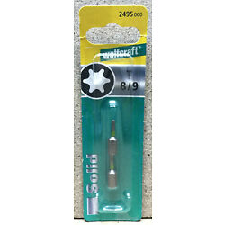 Wolfcraft 2 Bits Solid  TOX T8 / T9  2495000