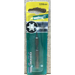 Wolfcraft 3 Bits Solid  TOX T 10 15 20  1316000