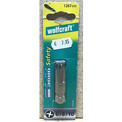 Wolfcraft 3 Bits Solid safety Torq 6 8 10  1267000