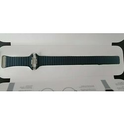 Genuine  Apple 44mm Forest Green Leather Loop Watch Band Strap Large MTH82AM/A