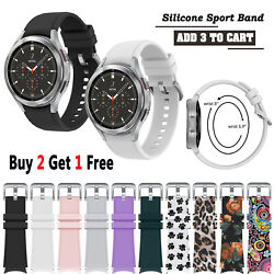 For Samsung Galaxy Watch 4 40 44mm / 4 Classic 42 46mm Sport Band Strap Silicone
