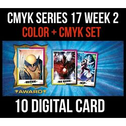 CMYK SERIES 17 WAR MACHINE/WASP FULL COLOR/CMYK 10 CARD SET Topps MARVEL COLLECT