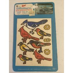 Vintage The Glass Magnet Non-Adhesive DECALS Birds GM 1 NEW OP