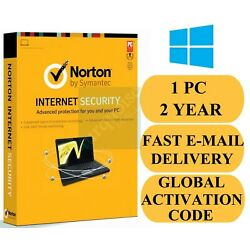 Norton Internet Security 1 DEVICE/PC 2 Year Credit Card Not Required Global Key