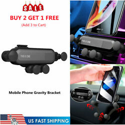 Universal Mobile Phone Holder In Car Gravity Stand Bracket Air Vent Clip Mount