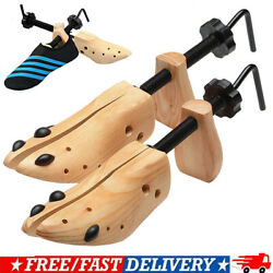 One Pair 2-way Wooden Adjustable Shoe Stretcher for Men Women Size 9-13 FD New