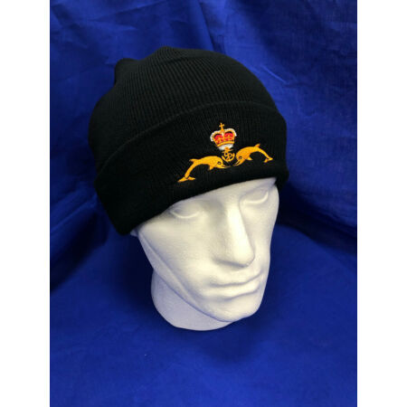 img-HM Submarines Beanie hat with embroidered dolphins badge
