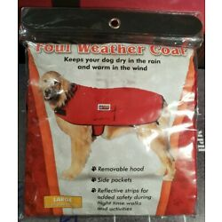 OUTWARD HOUND - FOUL WEATHER COAT - FOR DOGS - LARGE - RED - DISCONTINUED - VHTF