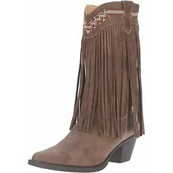 Roper Women's Fringes Leather Work Boots - Size 10 Narrow