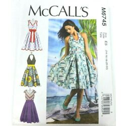 McCalls M6745 Sewing Pattern Size 14-22 Womens Dress A Line With Variations