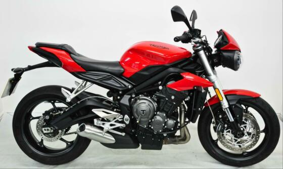 Triumph Street Triple 765 S 2017, Red, One Owner, FSH, ABS, TC, Modes, Datatag.