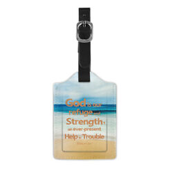 Psalm 46:1 Beach Travel Luggage Suitcase Bag Tag Name Address Label Baggage