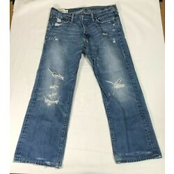 Abercrombie and Fitch Man's Size 36w x 32L blue jeans Horton Classic Straight