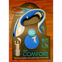 Flexi New Comfort Tape Leash Blue/Gray 16ft For Large Dogs Up To 132 lbs. New