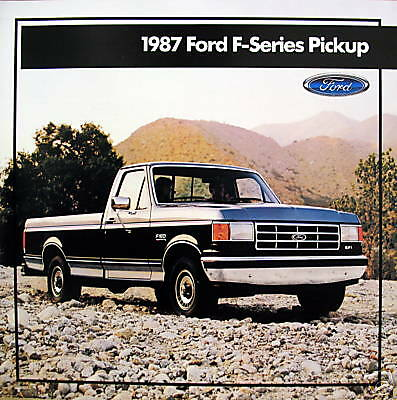 1987 ford f series pickup truck new vehicle brochure ebay. Black Bedroom Furniture Sets. Home Design Ideas