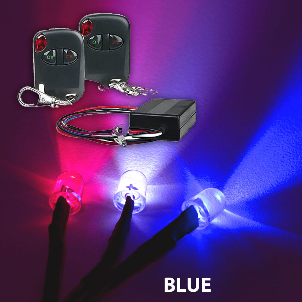 BLUE Motorcycle Body LED LIGHTS 10 LED KIT + REMOTE CNT