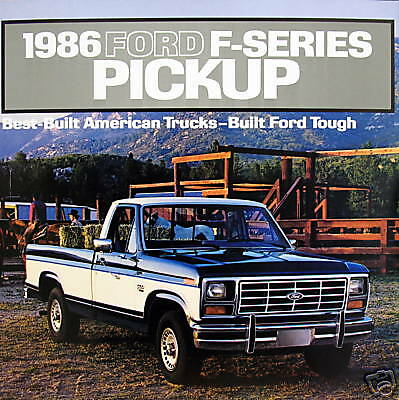 1986 ford f series pickup truck new vehicle brochure ebay. Black Bedroom Furniture Sets. Home Design Ideas