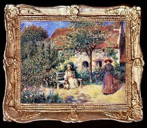 Victorian Garden Miniature Dollhouse Doll House Picture