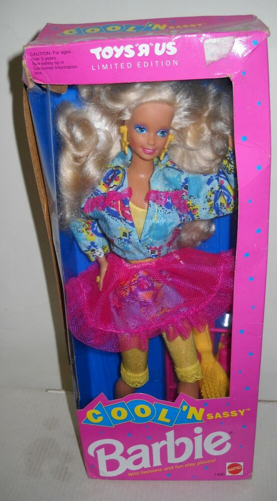 Cool Toys From Toys R Us : Nrfb toys r us cool n sassy barbie doll limited