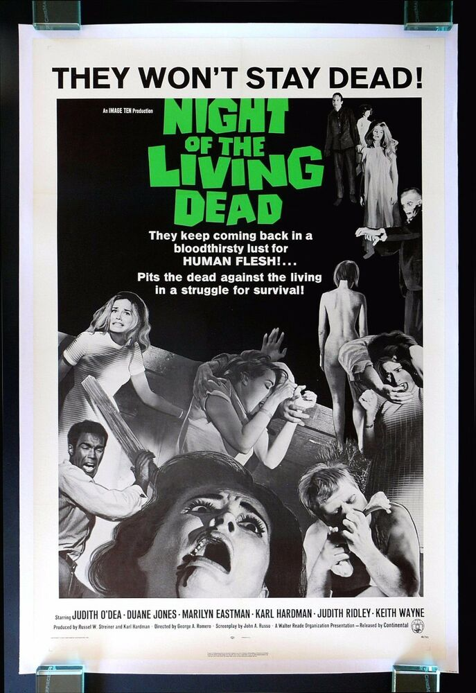 NIGHT OF THE LIVING DEAD * CineMasterpieces ORIGINAL ...