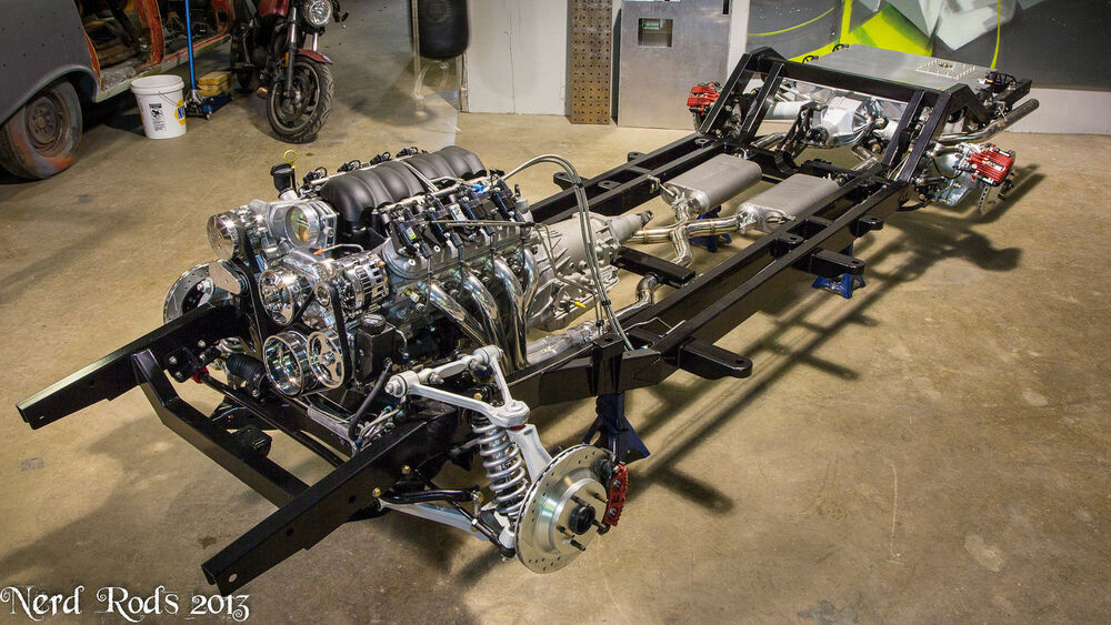Rolling Chassis C4 Grand Sport Coilover 55 56 57 Chevy Ebay