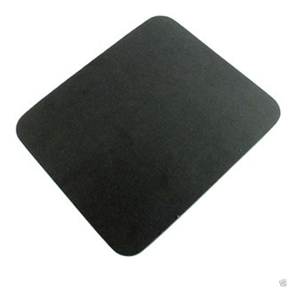 Black Fabric Mouse Mat Foam Backed High Quality 5mm Ebay