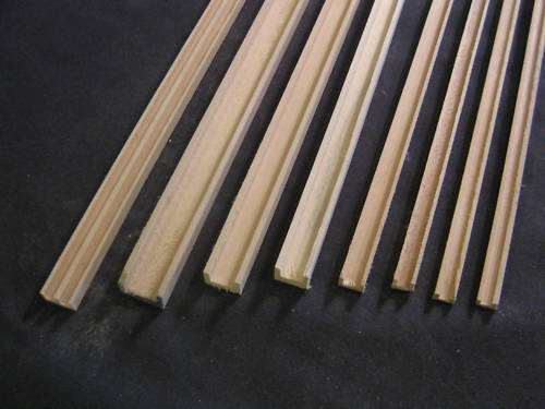 Groove Edge Molding 1 8 Quot Dollhouse Channel Molding