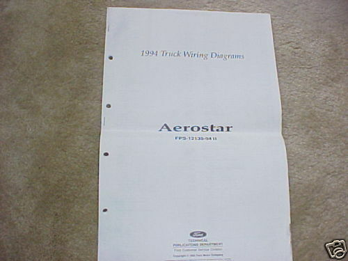 1994 Ford Aerostar Wiring Diagrams